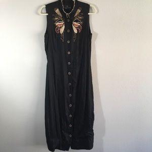 Carole Little|Long Dress| wooden buttons|Size:6/8